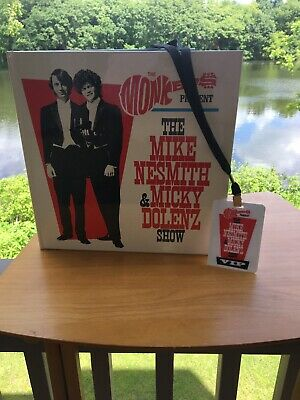 AUTOGRAPHED Monkees Mike Nesmith Micky Dolenz Show Signed Tour Book VIP Lanyard