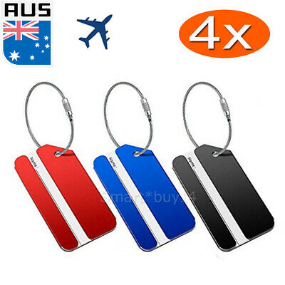 Aluminium Luggage Tags Suitcase Labels Name Address ID Bag Baggage Tag Travel OZ
