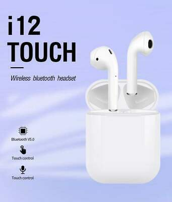 i12 TOUCH TWS Bluetooth 5.0 Earphones Headset Wireless For Apple Airpods iPhone