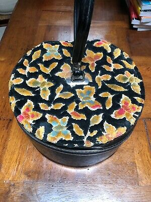 Vintage Carry-all By Munro Wig Carrying Case Floral Felt