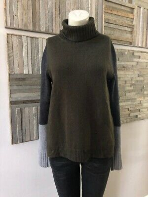 Vince Colorblock Turtleneck Sweater Wool-Cashmere Size Small