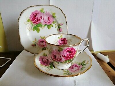 ROYAL ALBERT American beauty TEA CUP Saucer side plate first quality