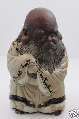 Antique Japanese  Immortal God Large Figurine 27cm High Weighs 2.8kg Signed