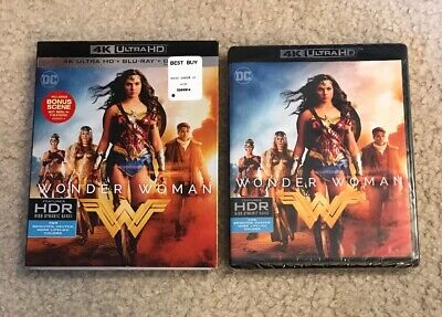 Wonder Woman (4K Ultra HD Blu-ray, 2017) NEW with slipcover! FREE shipping!