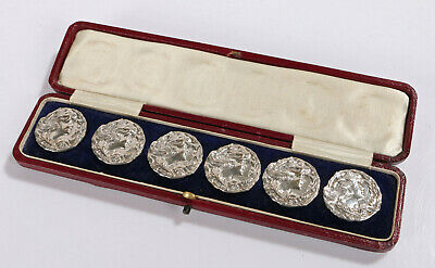 Rare Grand National 66 Moifaa, Art Nouveau Solid Silver Buttons. Whittaker Co
