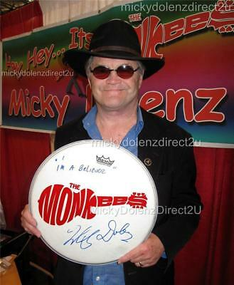 """Micky Dolenz Direct 2U! 14"""" Drumhead Signed 2U W/ Your Fave Monkees Song Title!"""
