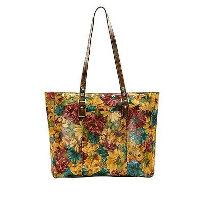 NEW  Patricia Nash  Solero  Fresco Bouquet  Large  Leather Tote   msrp $250+