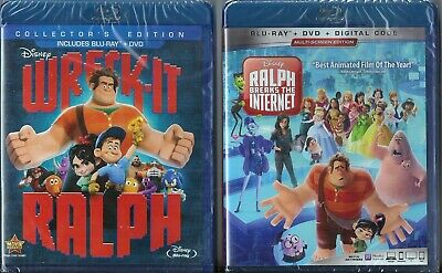 Wreck-It Ralph 1 & 2 Blu-ray + DVD BRAND NEW