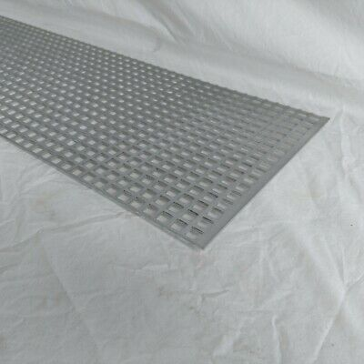 """Perforated Metal Aluminum Mill Sheet 1/8"""" Thick 12"""" x 24"""" x 1/2"""" Square hole"""