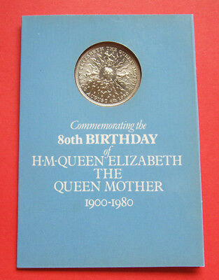A smashing 1980 Queen Mother 80th birthday - Royal Mint crown presentation pack