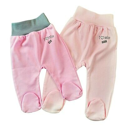 Baby Infant Lovely Girls Trousers with feet 100%Cotton 0-3/6-9/12-18 Months