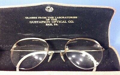 Bausch & Lomb 1/10 12k Gold Filled Trifocal Glasses w/Case - VG Condition
