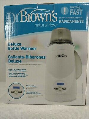 Dr Browns Deluxe Baby Bottle Warmer Steam Heat Fast Warming LCD Panel BRAND NEW