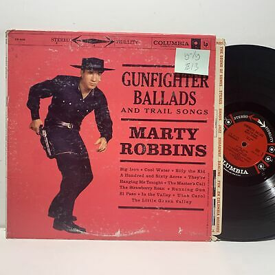 Marty Robbins Gunfighter Ballads Trail Songs- Columbia CS 8158 VG-/VG Country