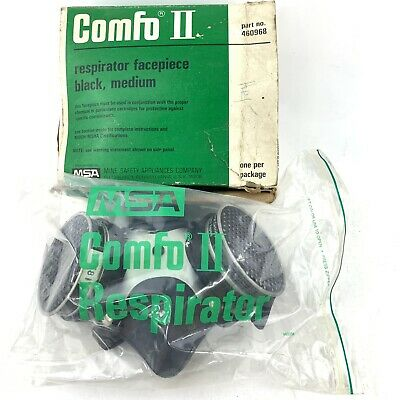 MSA Comfo II Respirator Size Medium Silicone With Filters Vintage 460968