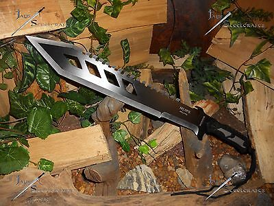 M1 Hellfire/Combat machete/Sword/Bowie/Knife/Full tang/Rubber grip/Survival