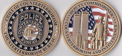 Chief of Countertererrorism and Intelligence NY Challenge Coin NEW