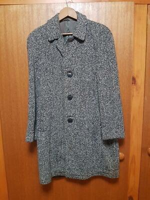 Vintage Mens 1950s stylish  pure wool tweed trench coat by Gowings of Sydney