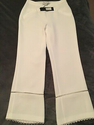 RACHEL ZOE Michelle Straight-Leg White Cropped Pants New with Tags $395 Retail
