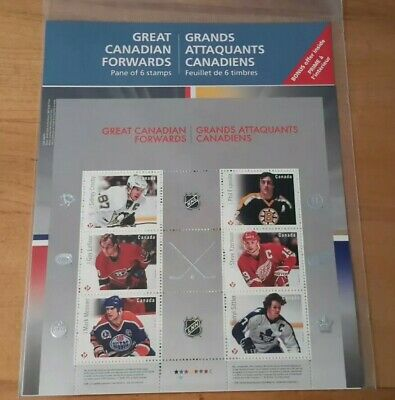 2016 Canada  Great Canadian Nhl Forwards   Pane Of 6  Permanent Stamps
