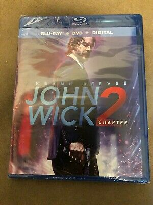 John Wick Chapter 2 (Blu-ray/DVD, Digital HD, 2017) NEW