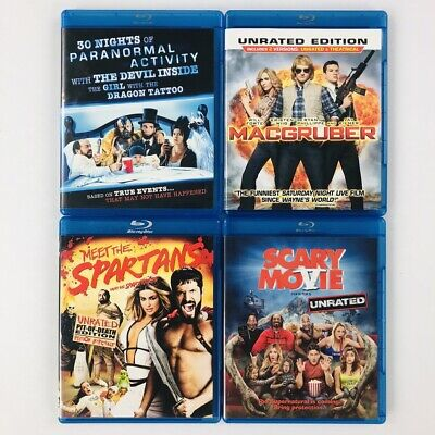 Parody Blu-Ray Lot of 4 - Macgruber - Scary Movie 5 - Meet the Spartans