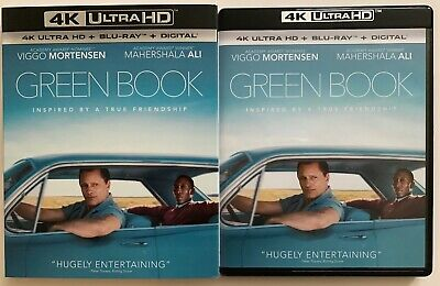 Green Book 4K Ultra Hd Blu Ray 2 Disc Set + Slipcover Sleeve Free World Shipping