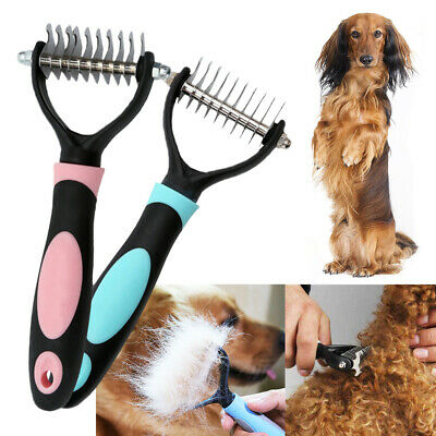 Dog Cat Pet Grooming Dematting Deshedding Trimmer Tool Hair Fur Comb Brush Rake