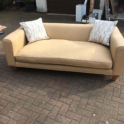 settee large beige colour 800 mm deep lovely day chair to relax on 2m long