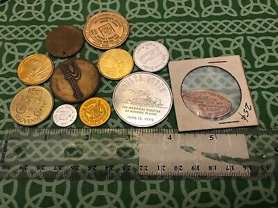 Vintage 11x Pieces Junk Drawer Coin Token Numinasric Coin Lot #A FREE SHIPPING