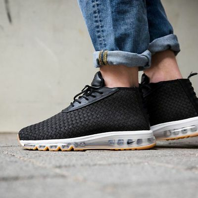 NIKE AIR MAX Woven Boot Men's Black Gum Soles Mid Top