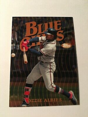 2019 Topps Finest Ozzie Albies Blue Chips Insert