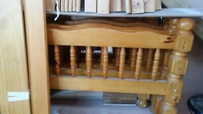 CHUNKY, SOLID THICK STRONG PINE WOOD BUNK BED dismantle to single beds,solid woo