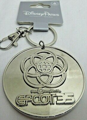 Disney Parks EPCOT 35th Anniversary Spaceship Earth Lanyard Medal Keychain #2