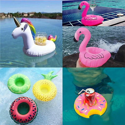 8 x Inflatable Floating Drink Can Cup Holder Hot Tub Swimming Pool Beach Party
