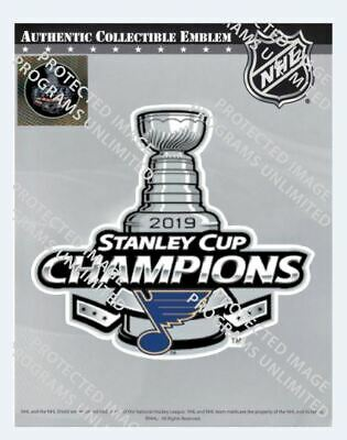 2019 Stanley Cup Final Champions Patch St. Louis Blues Nhl Licensed In Packaging