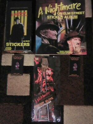 NIGHTMARE ON ELM ST STICKER ALBUM & FULL BOX OF CARDS New + Extras Lot