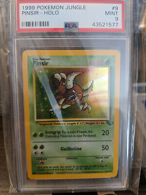 Unlimited Edition Holo Rare 9//64 Pinsir Heavy Play Pokemon