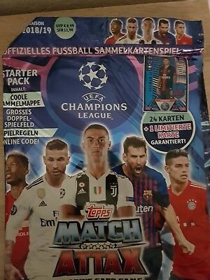 Topps Match Attax Champions League 2018/2019 Starterpack Limited Edition