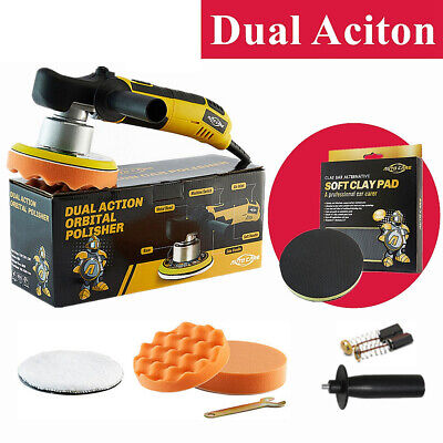 "UK Plug 6"" Electric Dual Action DA Car Polisher Buffer Sander Polishing Machine"