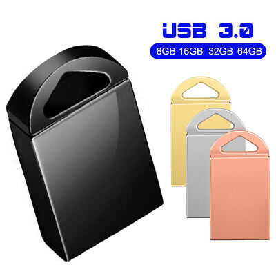 8/16/32/64GB High Speed USB 3.0 Flash Drive Metal Waterproof Data Storage U Disk