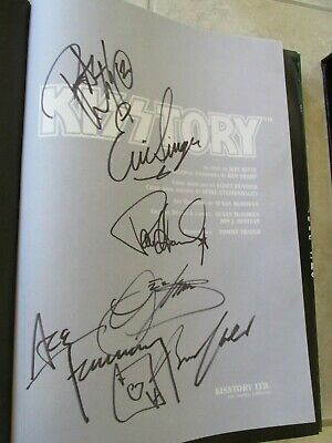 Kiss Signed Kisstory Book -  Simmons -Stanley-  Frehley - Criss - Singer -  Rare