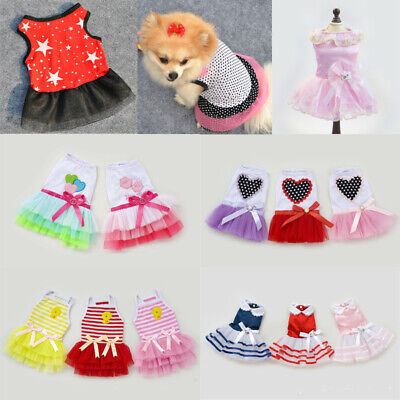 20+Types Pet Puppy Small Dog Cat Luxury Various Lace Party Dress Apparel Clothes