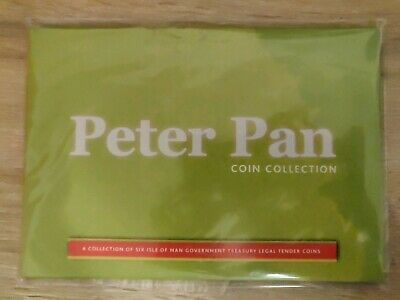2019 Isle of Man Peter Pan Six 50p pence Coin Set Uncirculated & Sealed