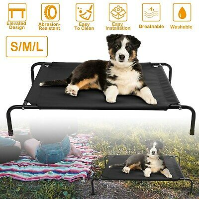 Elevated Dog Bed Lounger Sleep Pet Cat Raised Cot Hammock for Indoor Outdoor US