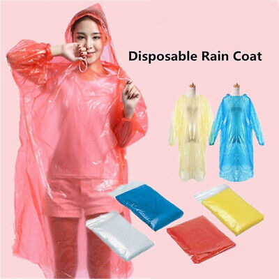 New Disposable Poncho Outdoor Hiking Camping Emergency Waterproof Rain Coat