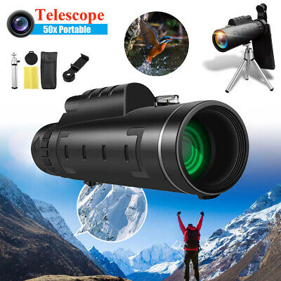 50x60 Zoom Optical HD Lens Monocular Telescope Day/Night Vision Camping Hiking