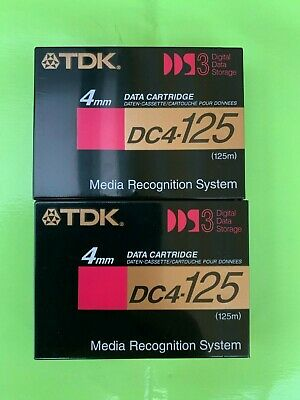 2 Stück Original TDK DC4-125 DAT Kassetten Digital Audio Tape 125 Min NEU & OVP