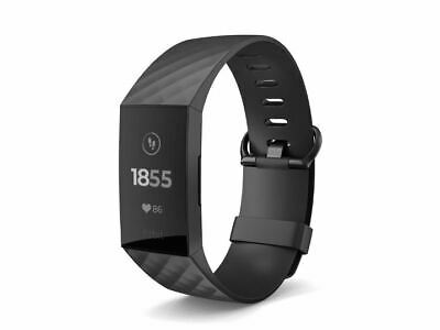 Fitbit Charge 3 fitness tracker HR Monitor Water Resistance Black, Graphite Alum