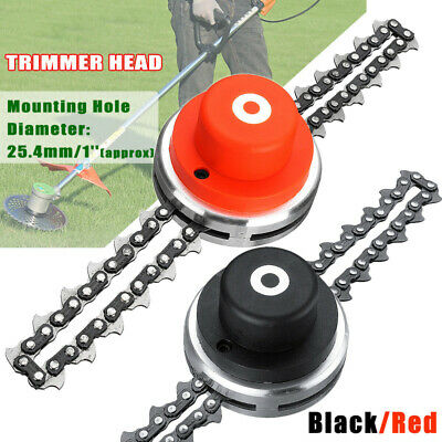 65MM Trimmer Head With Sawchain Coil Chain Brush Cutter Trimmer Grass For Lawn